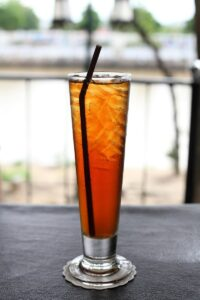 peach tea whiskey cocktail recipe from Raising the Bar